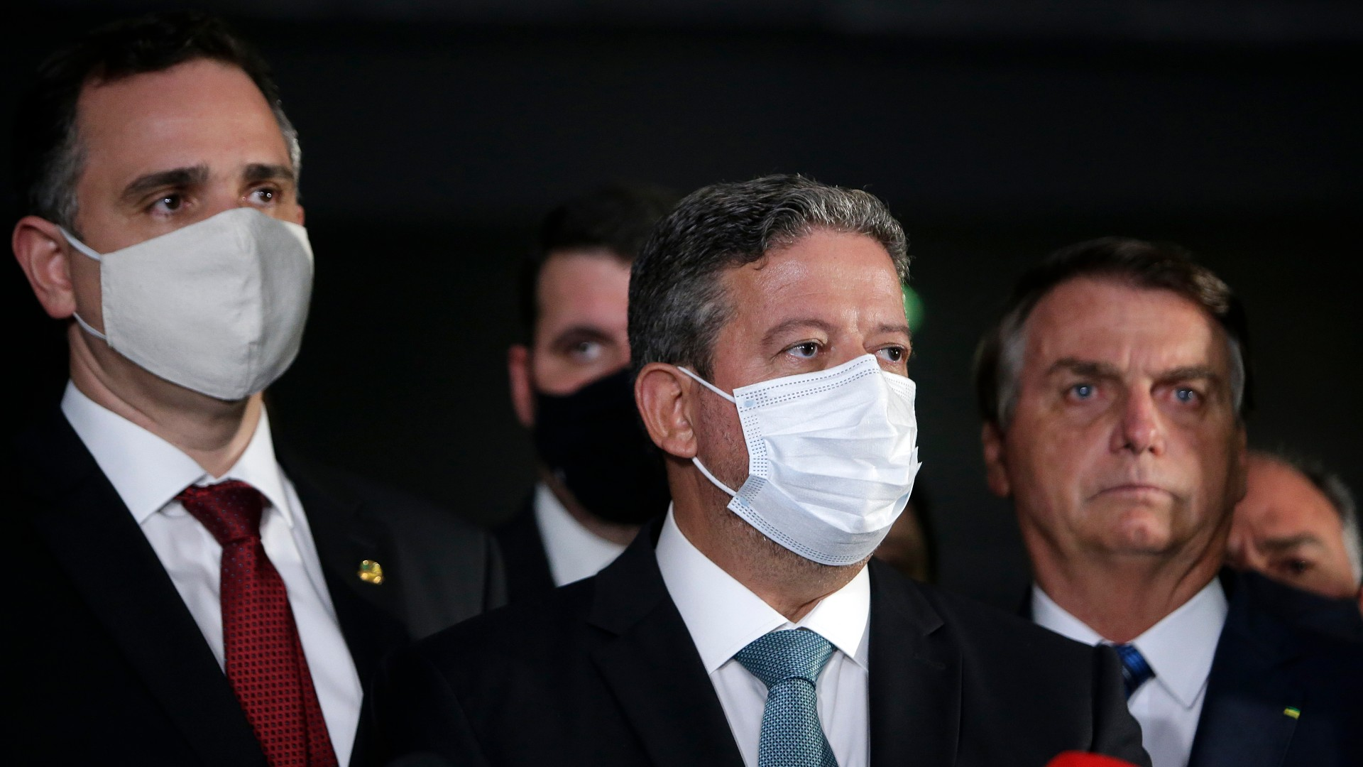 Rodrigo Pacheco, Arthur Lira e Jair Bolsonaro