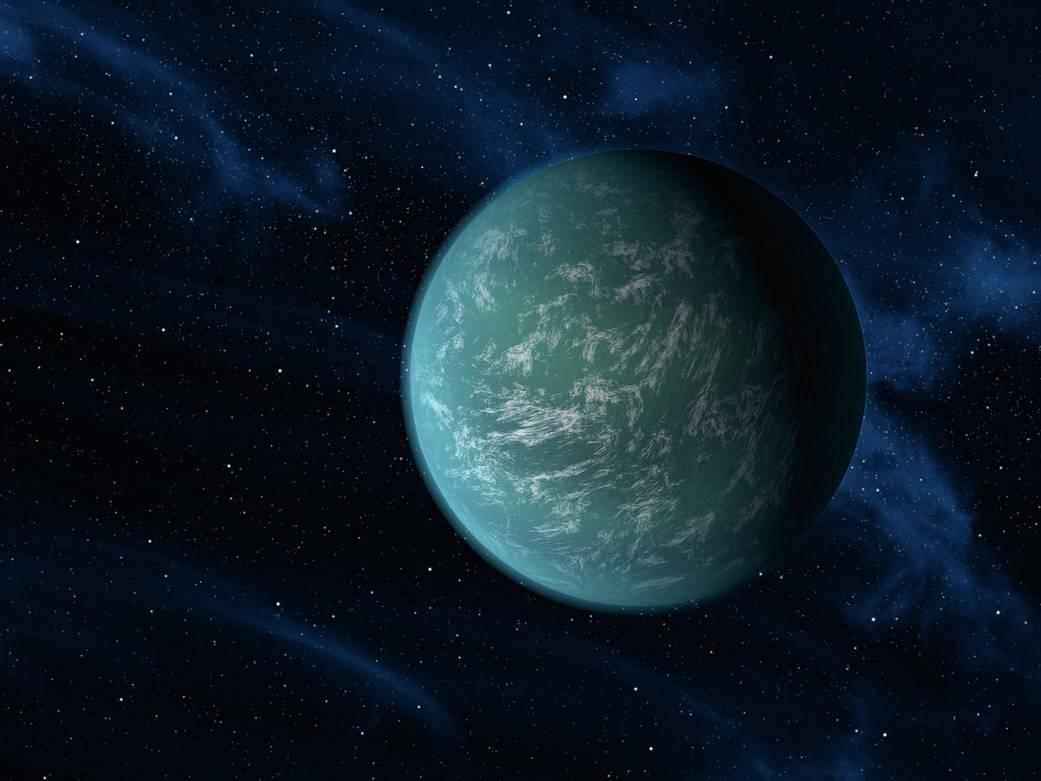 Ilustração Kepler 22b