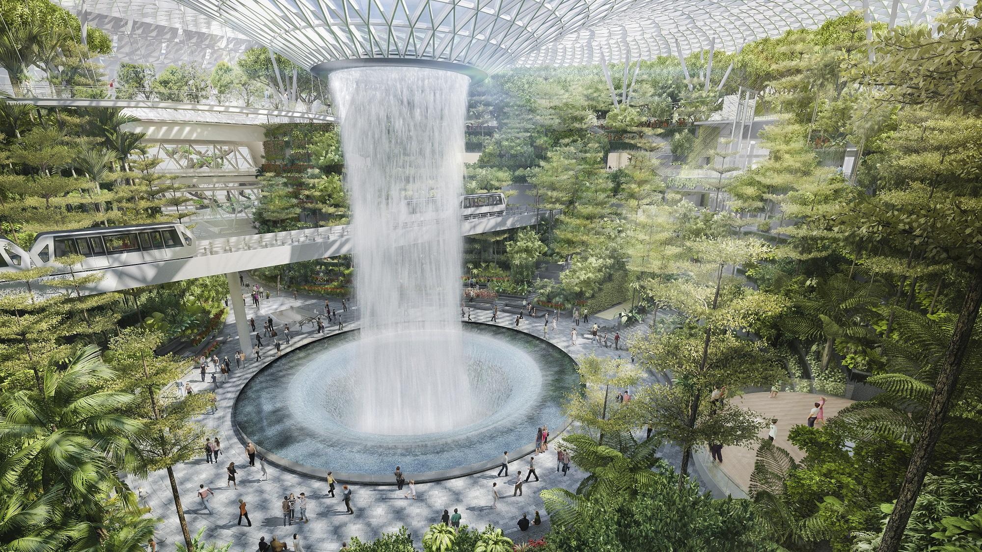 O aeroporto de Changi, em Singapura
