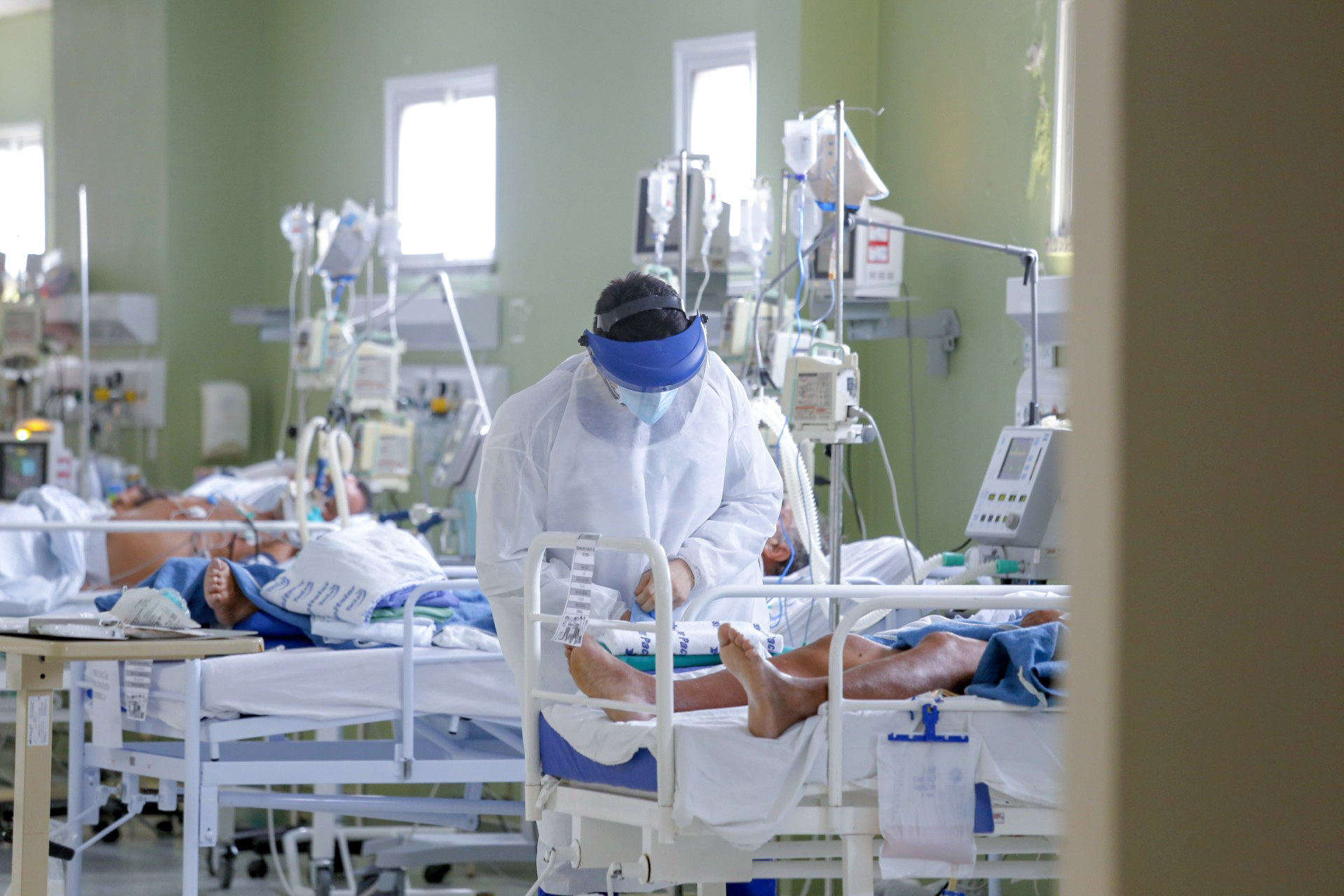 Leitos de UTI para pacientes da Covid-19 do Hospital Regional Norte no Ceará