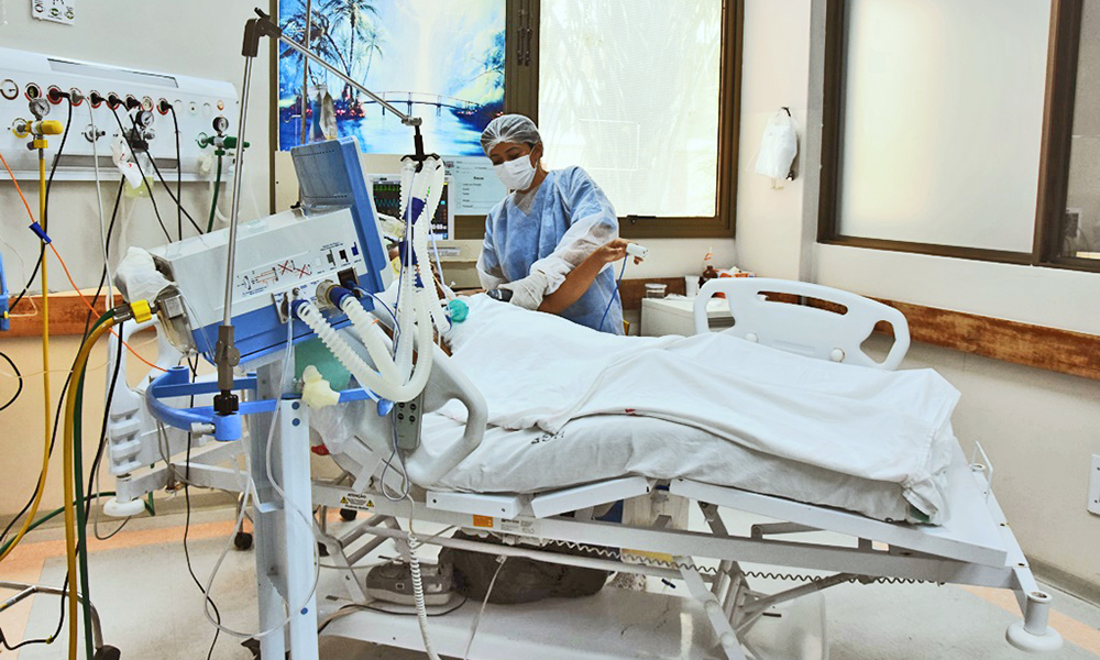 Leito de UTI para paciente de Covid-19
