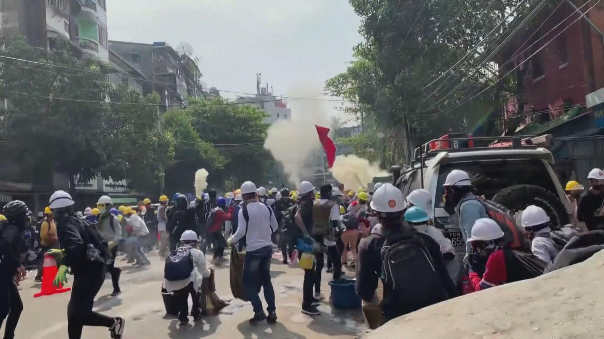 Repressão militar contra protesto em Mianmar (03.mar.2021)