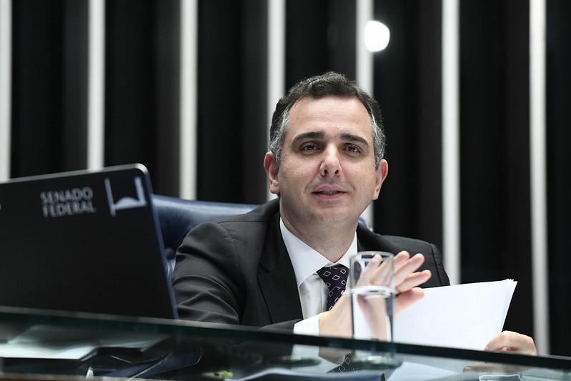 Presidente do Senado Federal, senador Rodrigo Pacheco (DEM-MG)
