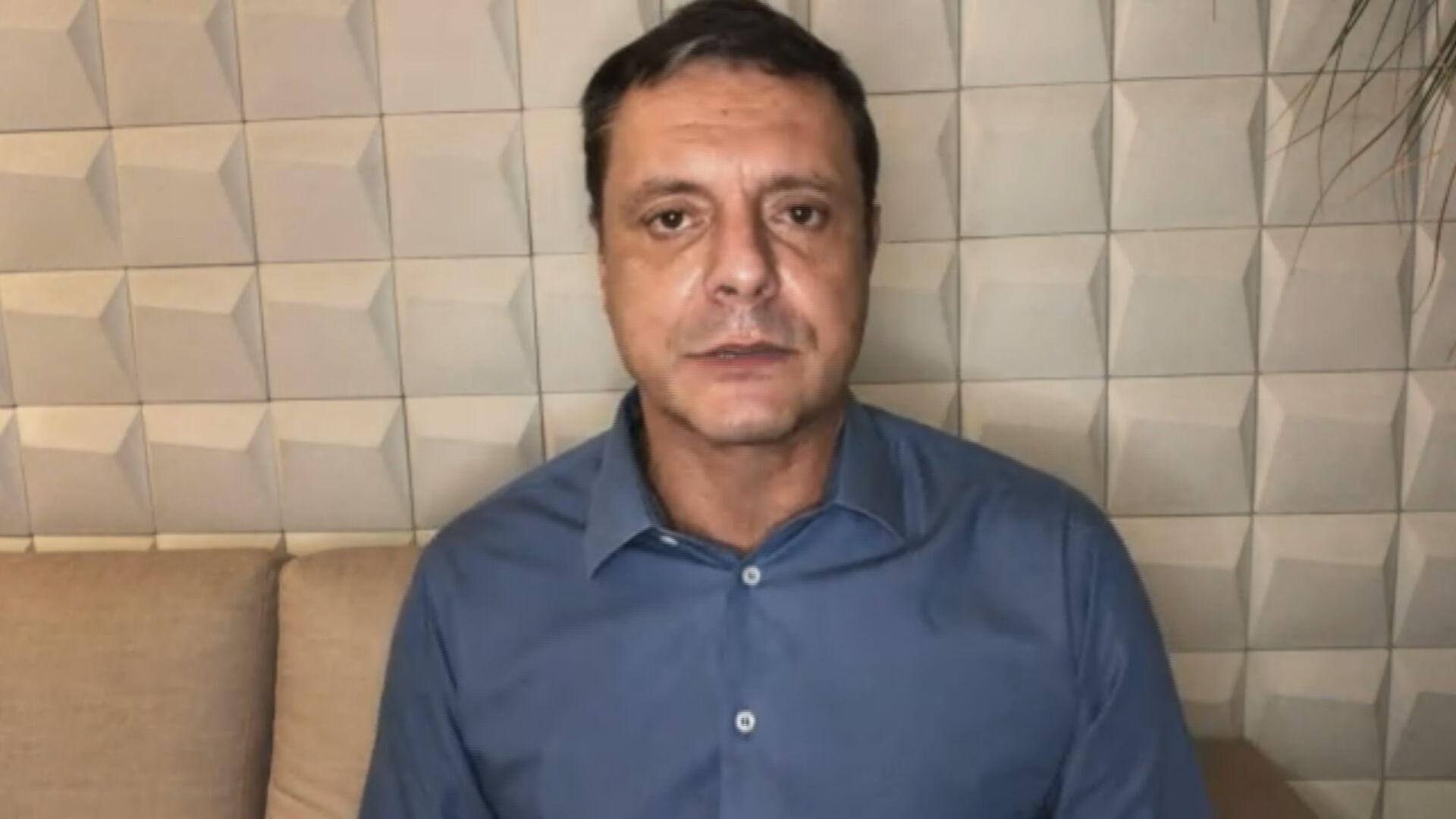 O prefeito de Santos, Rogério Santos (PSDB) (05.mar.2021)