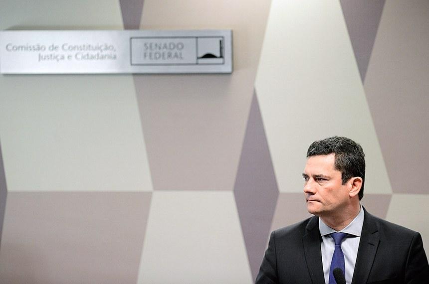 O ex-ministro da Justiça e Segurança Pública Sergio Moro