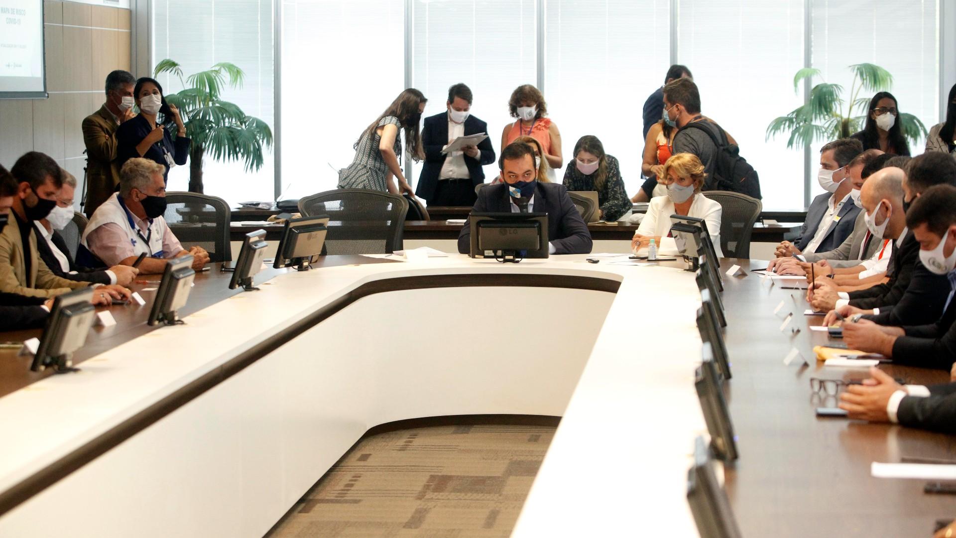 Governador Cláudio Castro se reuniu com prefeitos do Rio de Janeiro nesta sexta