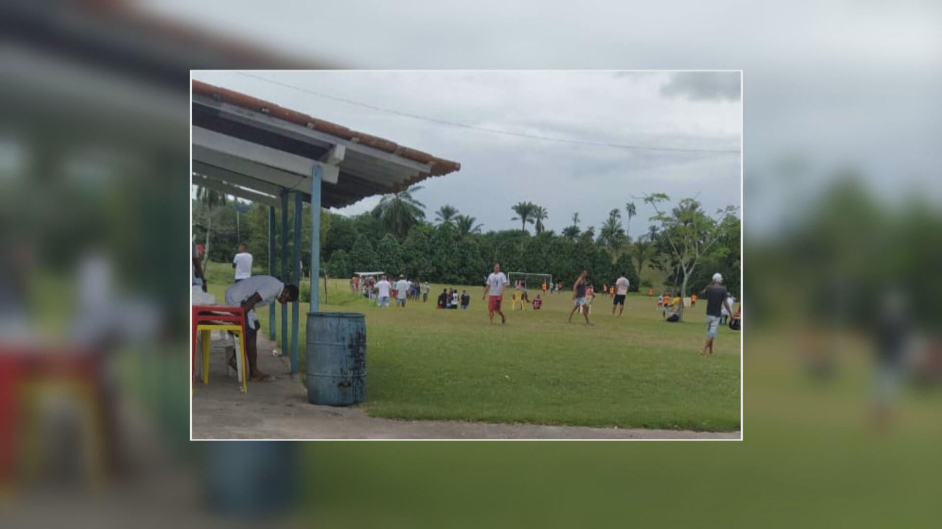 Polícia interrompe jogo organizado por Vampeta na Bahia