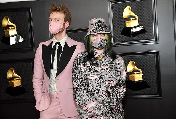 Finneas e Billie Eilish participam do 63º Prêmio Grammy, em Los Angeles, 14 de m