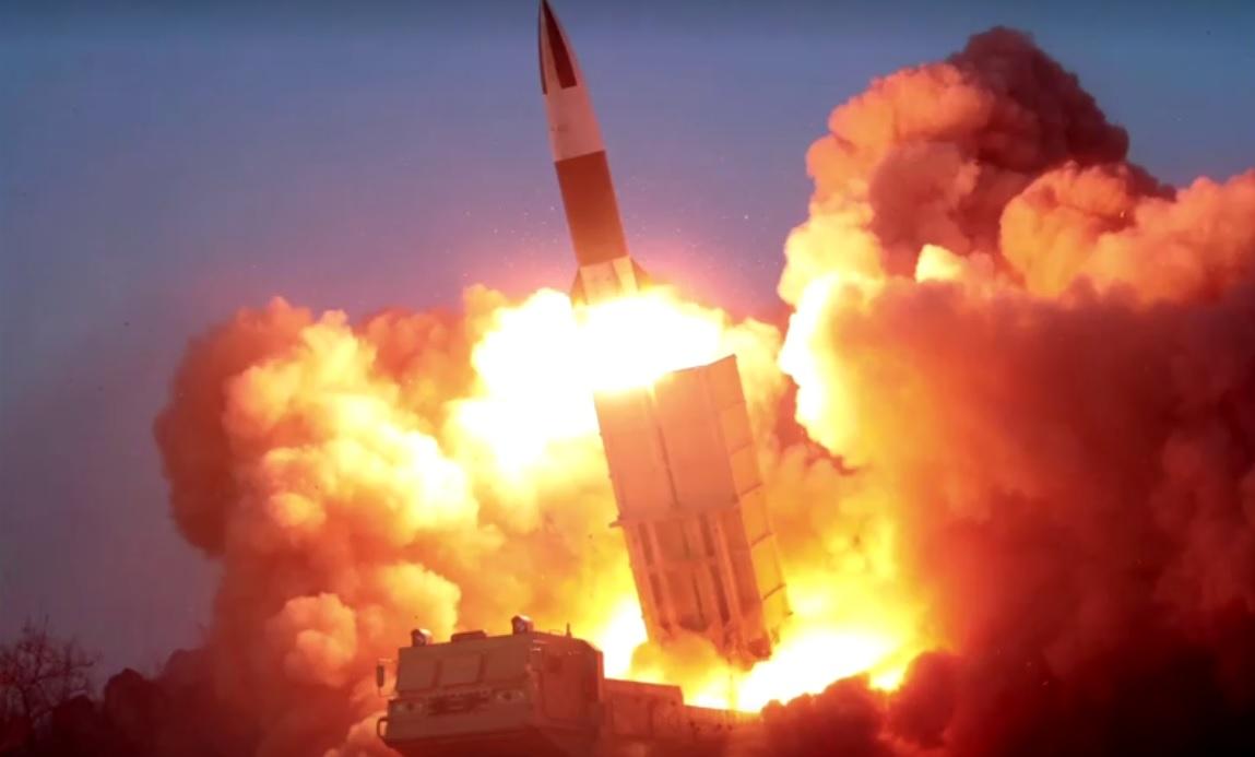 Em março, a Coreia do Norte disparou nove mísseis balísticos de curto alcance