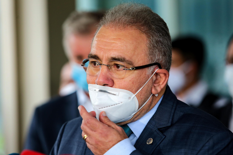 Coletiva de imprensa do novo ministro da Saúde, Marcelo Queiroga, em Brasília