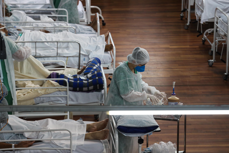 Hospital de campanha em Santo André (SP) durante pandemia da Covid-19
