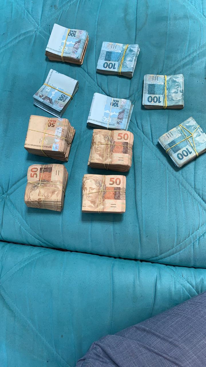 Grupo de Atuação Especial de Combate ao Crime Organizado apreendeu dinheiro