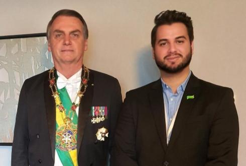 Filipe G. Martins e Jair Bolsonaro
