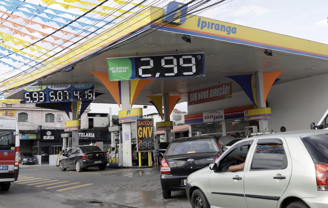 Posto de combustíveis no Rio de Janeiro (RJ) 05/03/2021