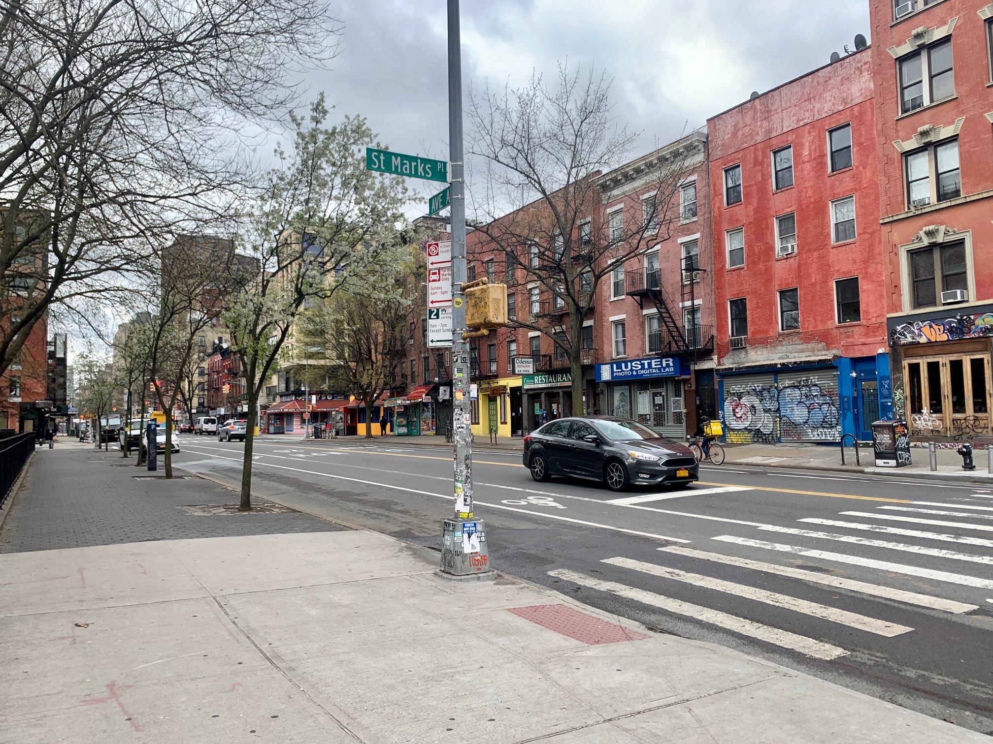 Ruas vazias em Nova York durante crise do coronavírus