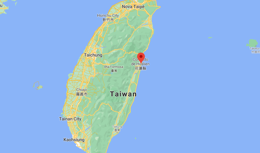 Hualien, em Taiwan, local do descarrilhamento