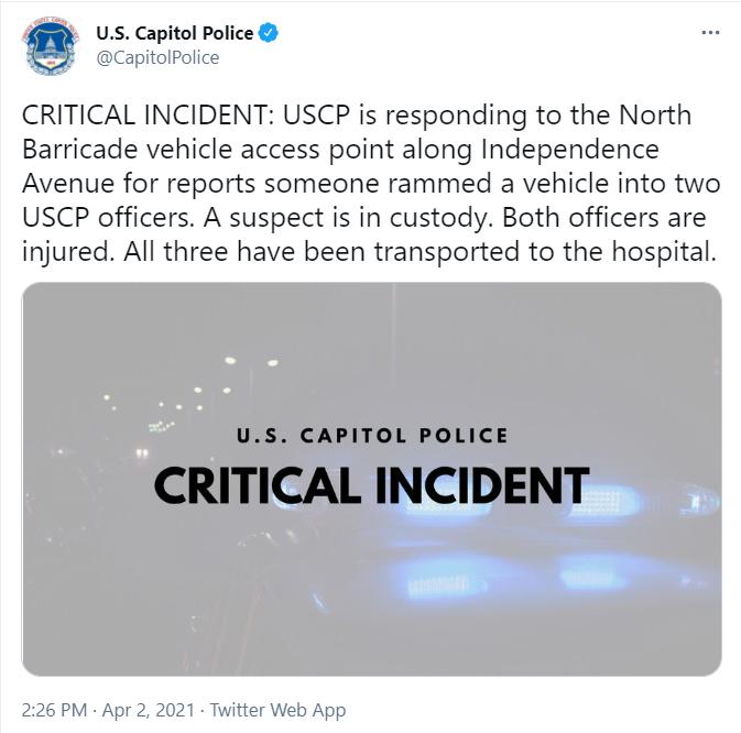 Tweet oficial do Capitólio