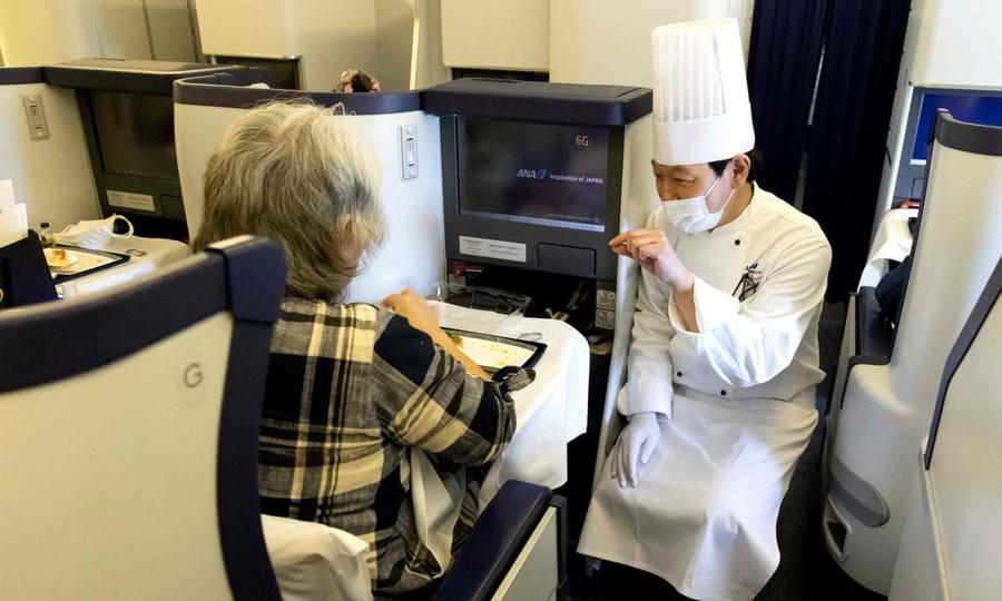 Refeição a bordo de avião da ANA (Japão)