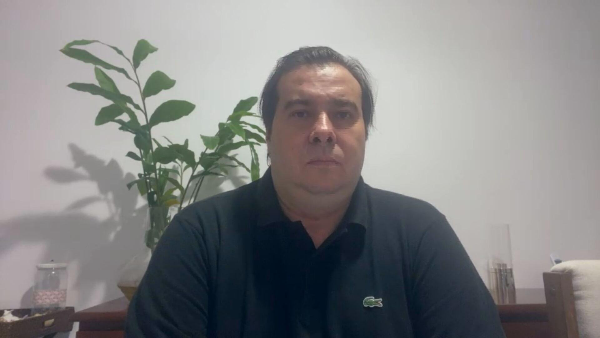O deputado federal Rodrigo Maia (DEM-RJ) (02.abr.2021)