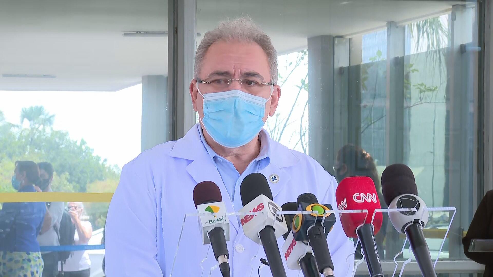 Ministro da Saúde, Marcelo Queiroga, após reunião com diretor da OMS