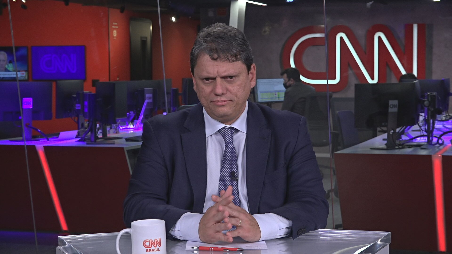 O ministro da Infraestrutura, Tarcísio Gomes de Freitas (05.abr.2021)