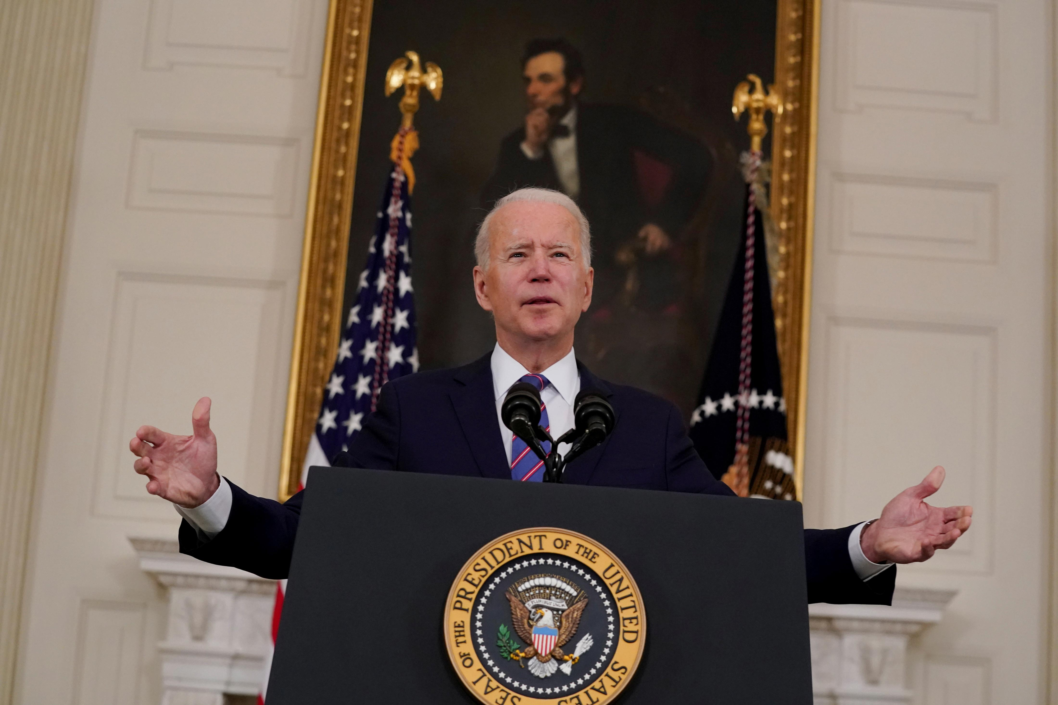 Presidente dos EUA, Joe Biden, em Washington
