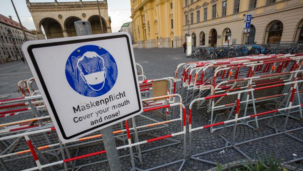 Barreira sanitária contra a Covid-19 em Munique