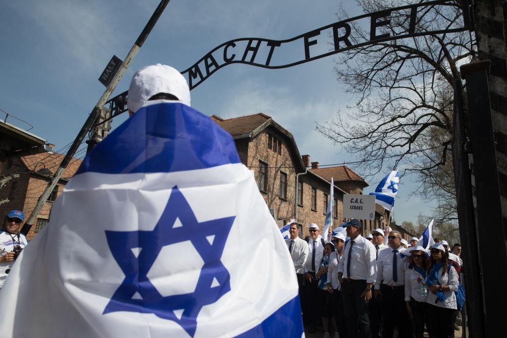 Marcha dos Vivos em 2018, em Auschwitz, na Polônia