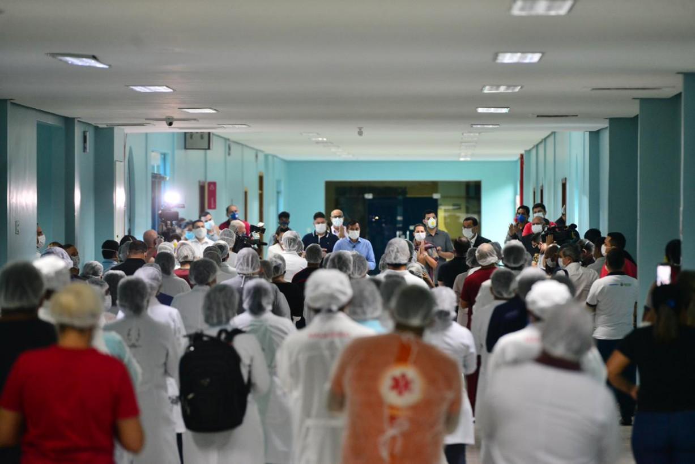 Inauguração do hospital de campanha Nilton Lins, em Manaus