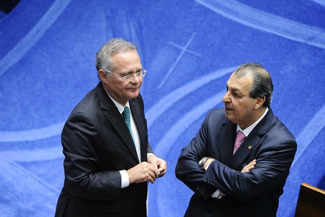 Renan Calheiros e Omar Aziz