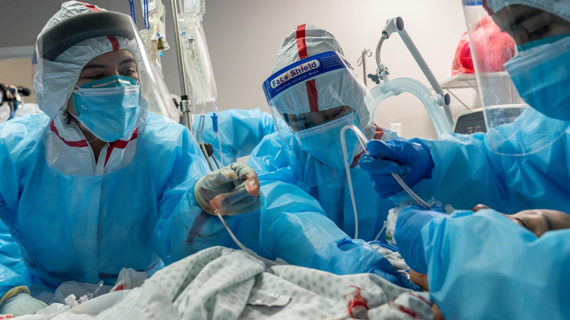 Paciente com Covid-19 é intubada em hospital do Texas, nos EUA