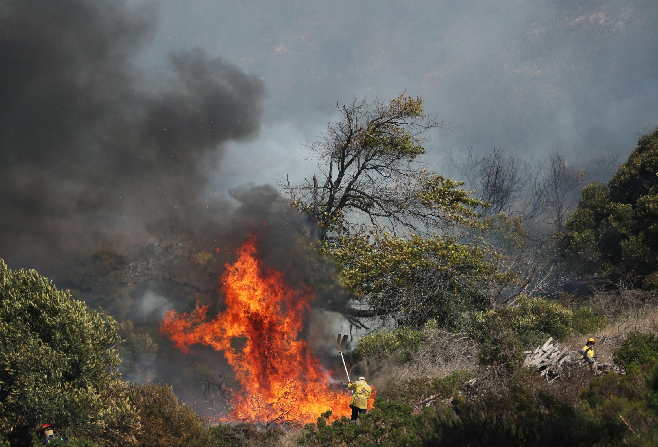 Incêndio na África do Sul