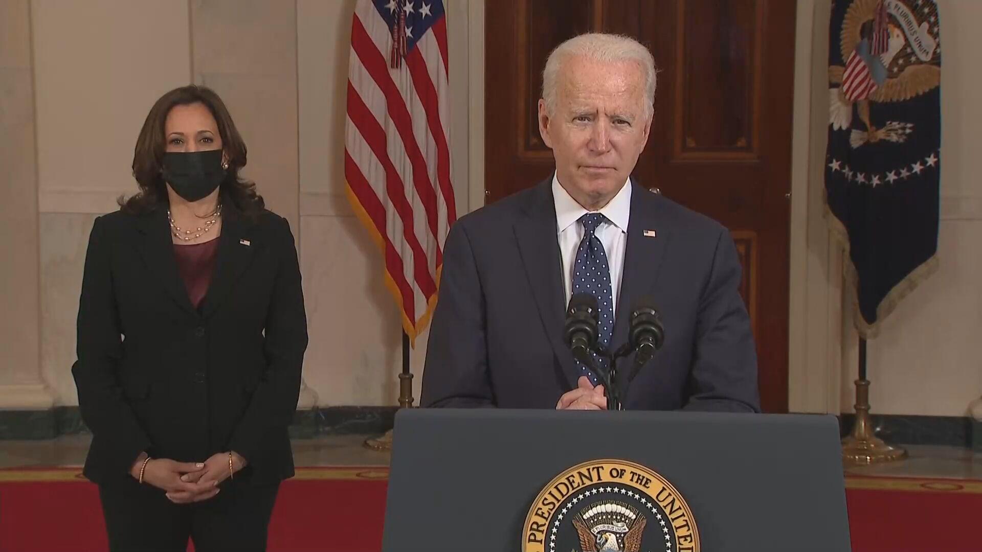 O presidente dos EUA Joe Biden e a vice Kamala Harris