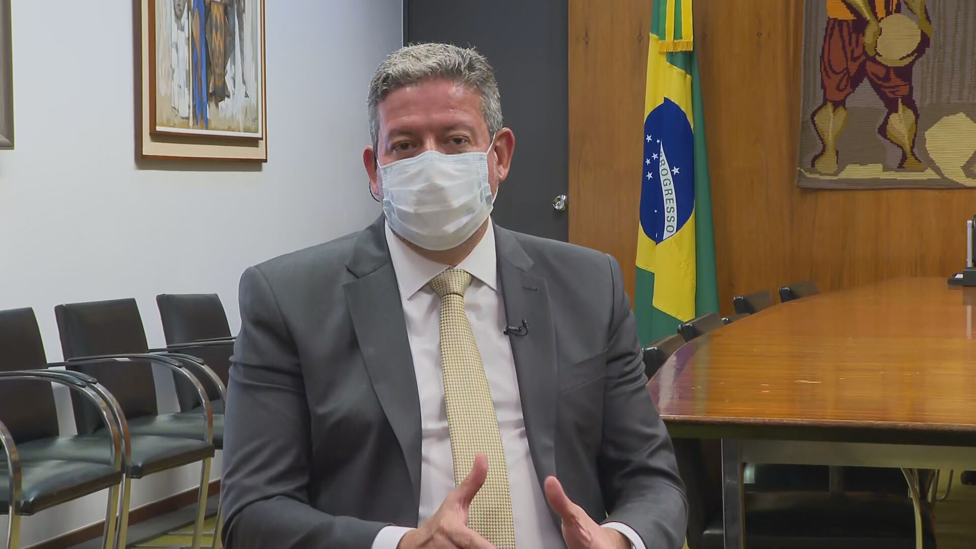 Arthur Lira (PP-AL, presidente da Câmara (20.abr.2021)