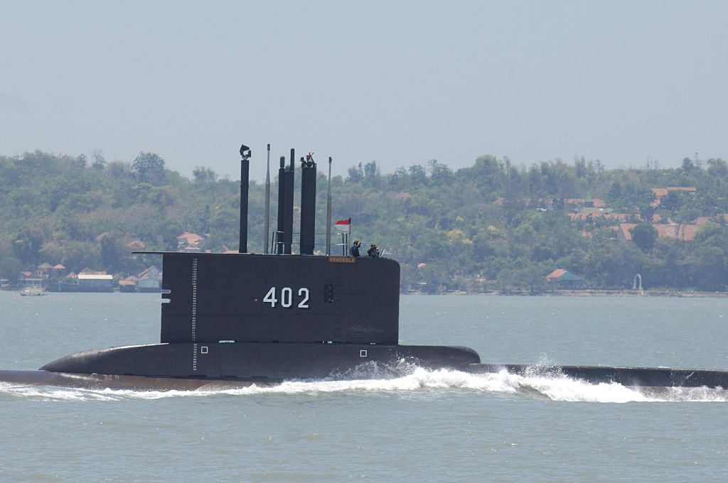 O submarino KRI Nanggala-402 da Indonésia