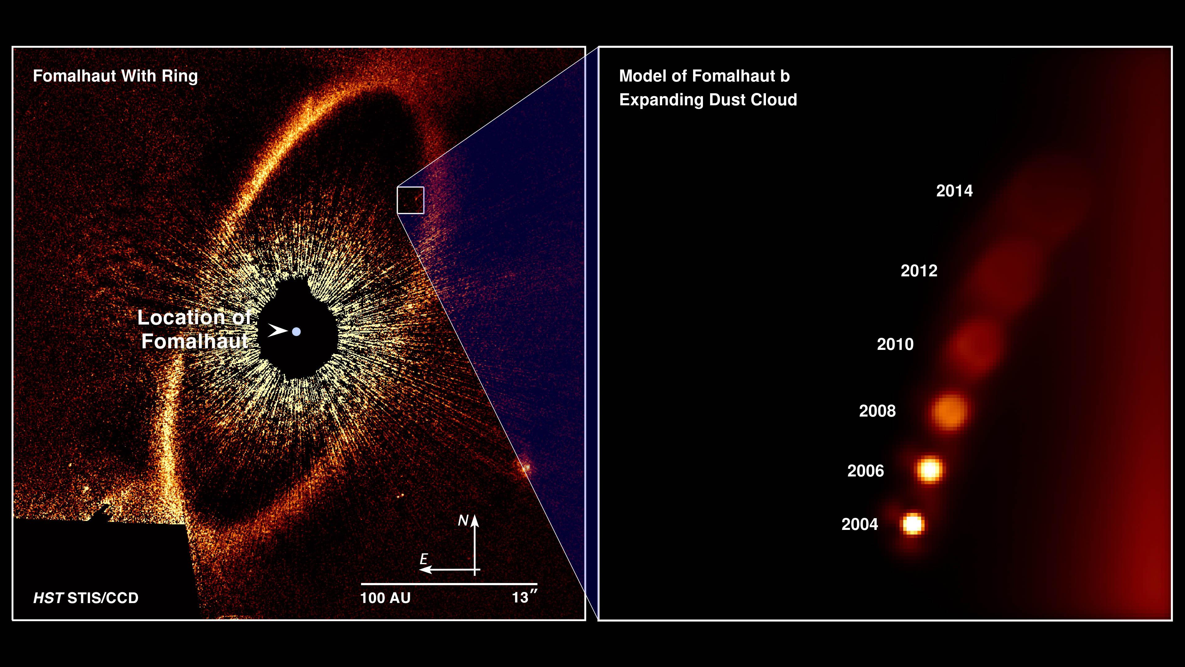 O vasto anel de detritos frios ao redor da estrela Fomalhaut