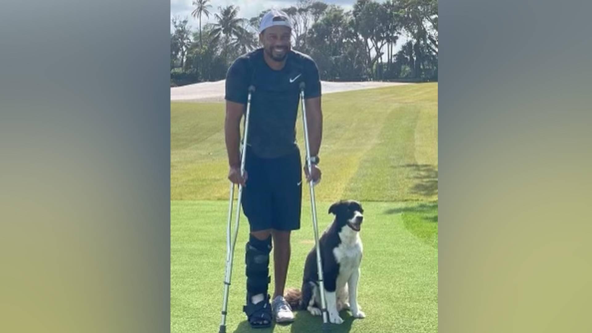 Tiger Woods posta pela primeira vez após acidente de carro