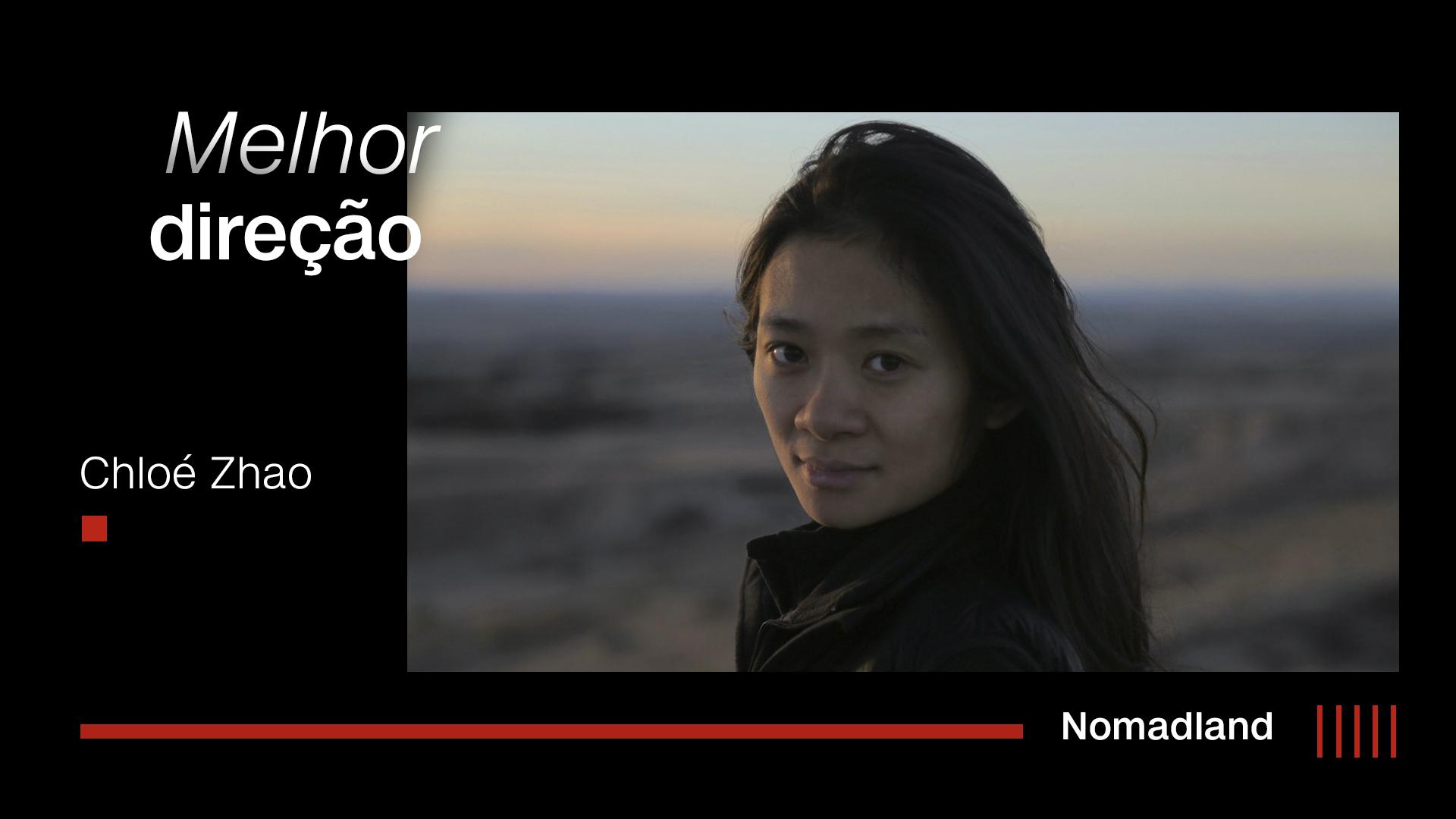 """Chloé Zhao, diretora de """"Nomadland"""""""