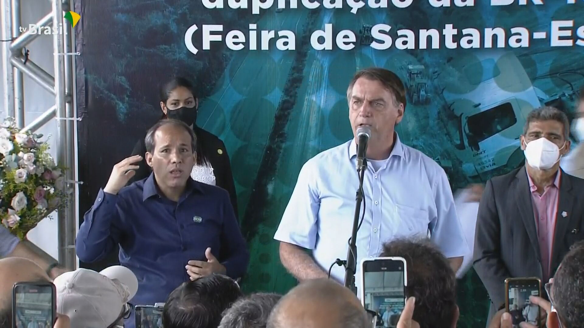 O presidente Jair Bolsonaro discursou durante evento na Bahia