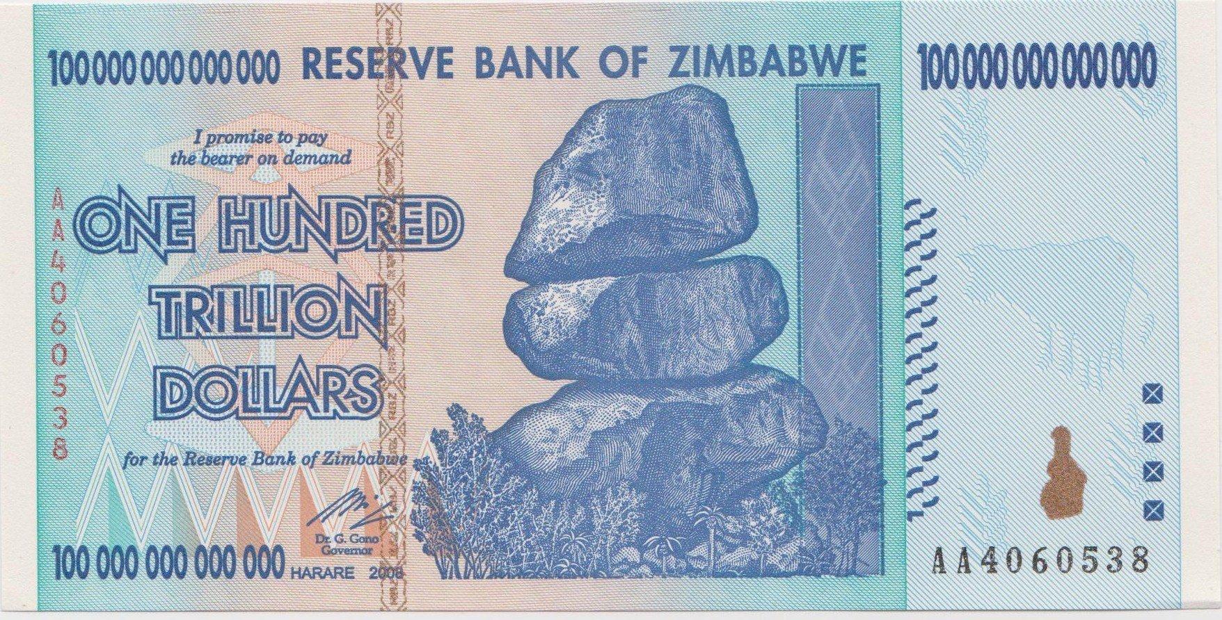 Cédula do Zimbábue