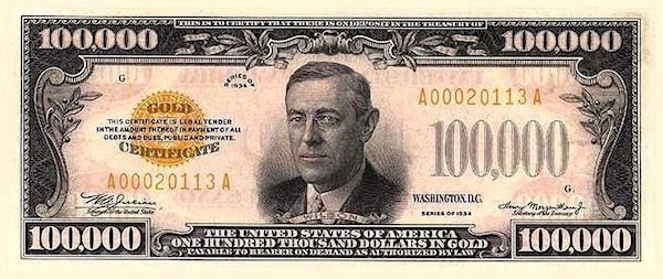 nota de US$ 100 mil
