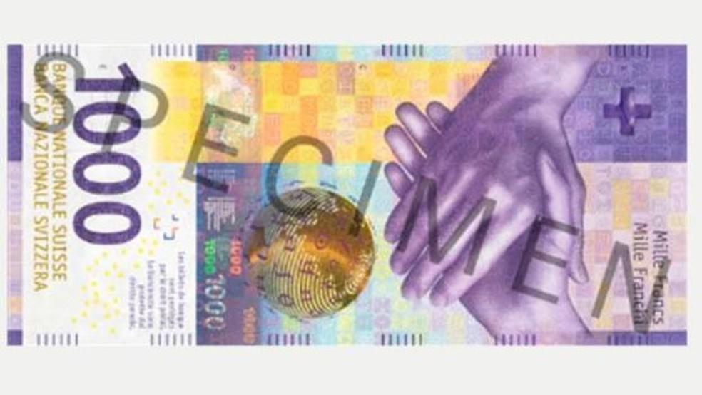 Nota de 1.000 francos suíços