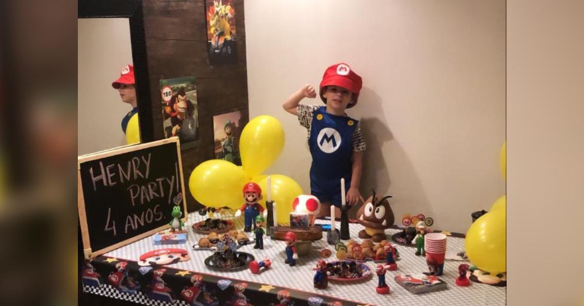 Henry Borel em comemoração ao seu aniversário de 4 anos, em maio de 2020