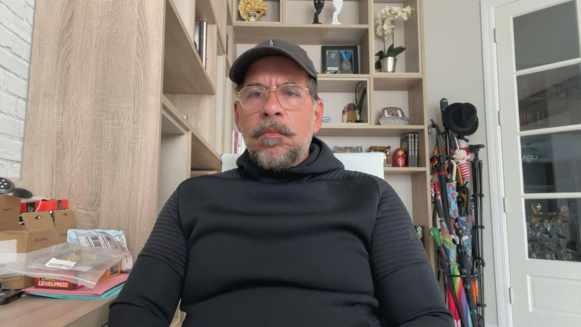 O ator e humorista Leandro Hassum durante entrevista à CNN