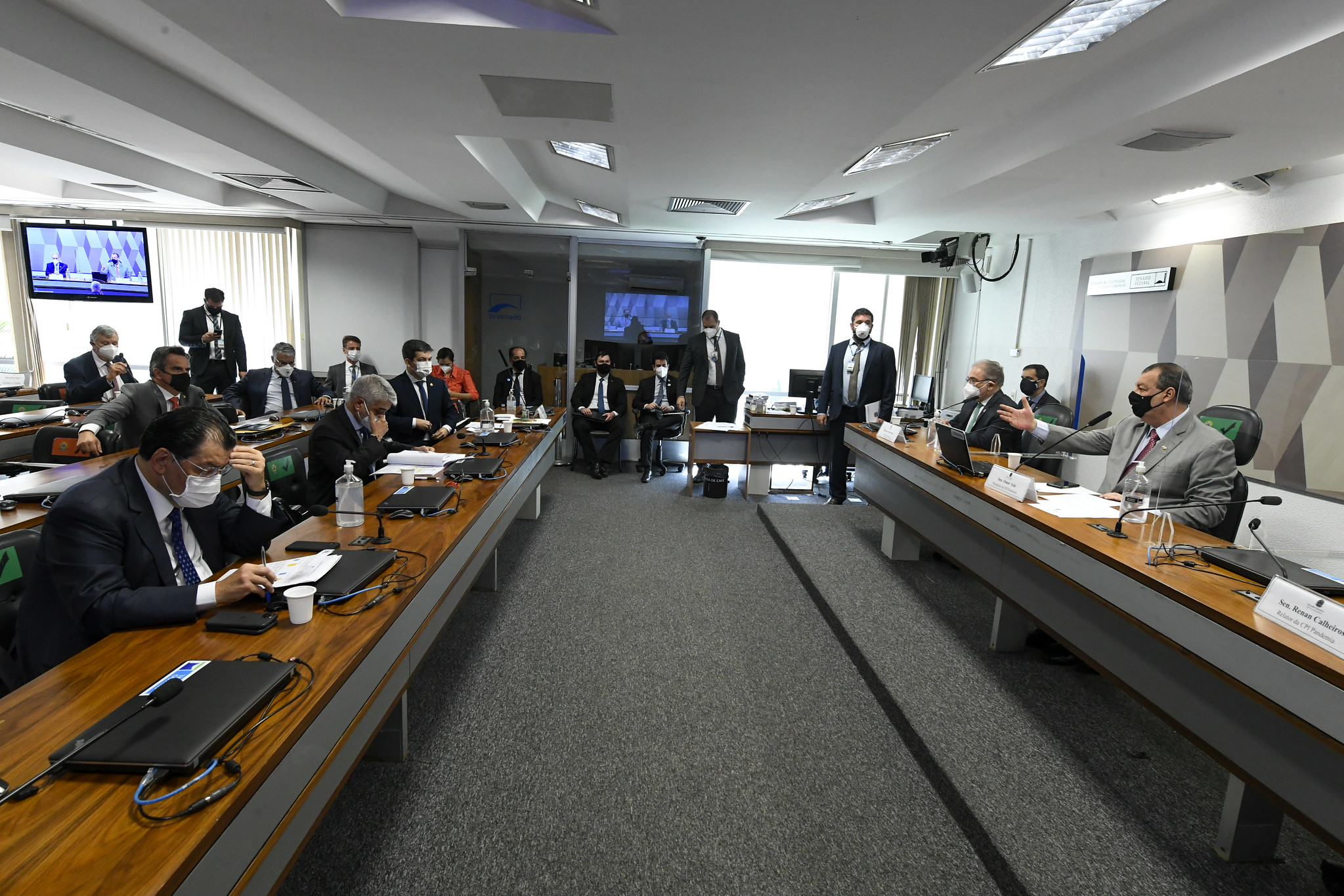 Ministro da Saúde, Marcelo Queiroga, presta depoimento na CPI da Pandemia