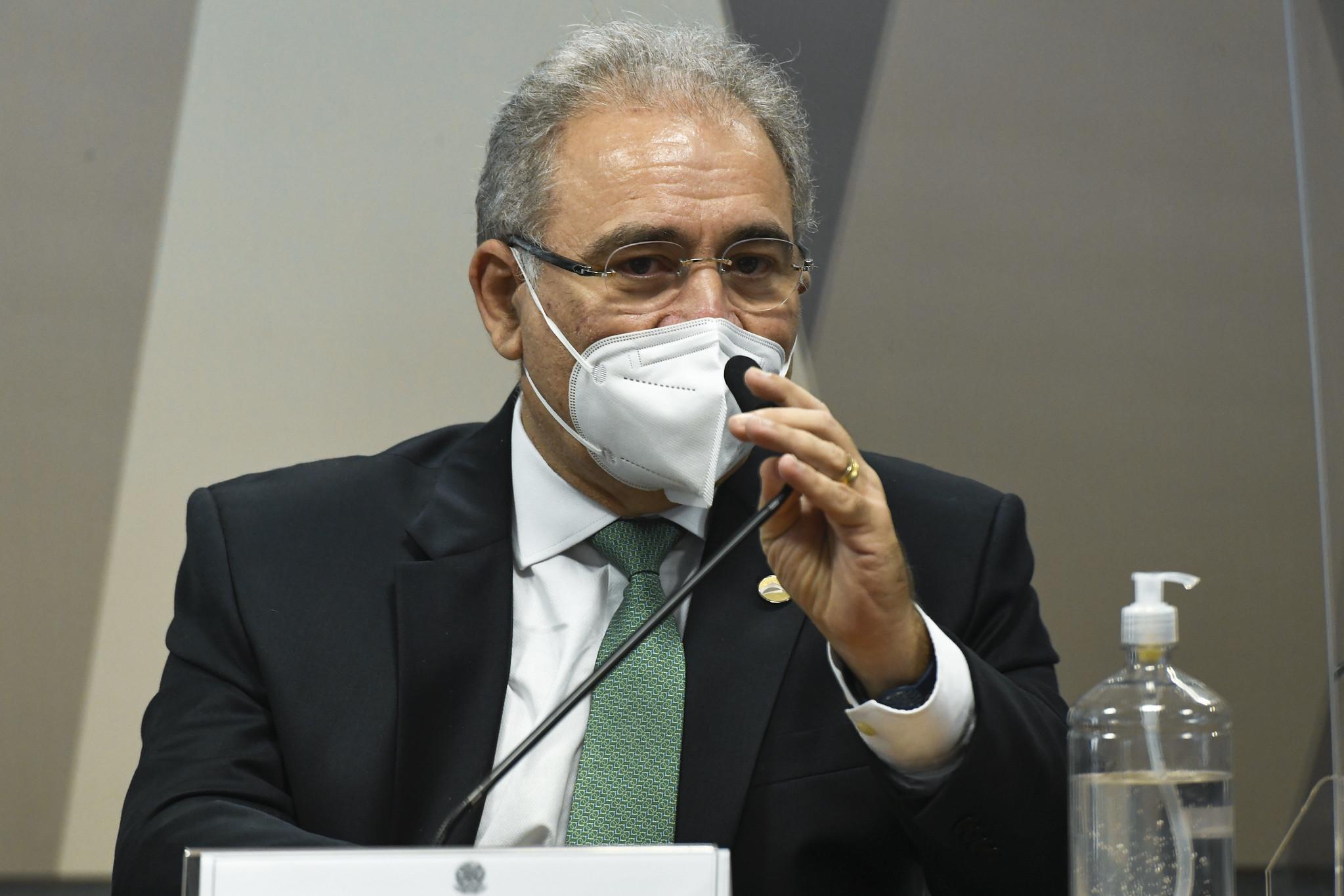 O ministro da Saúde, Marcelo Queiroga, é ouvido em sessão da CPI da Pandemia