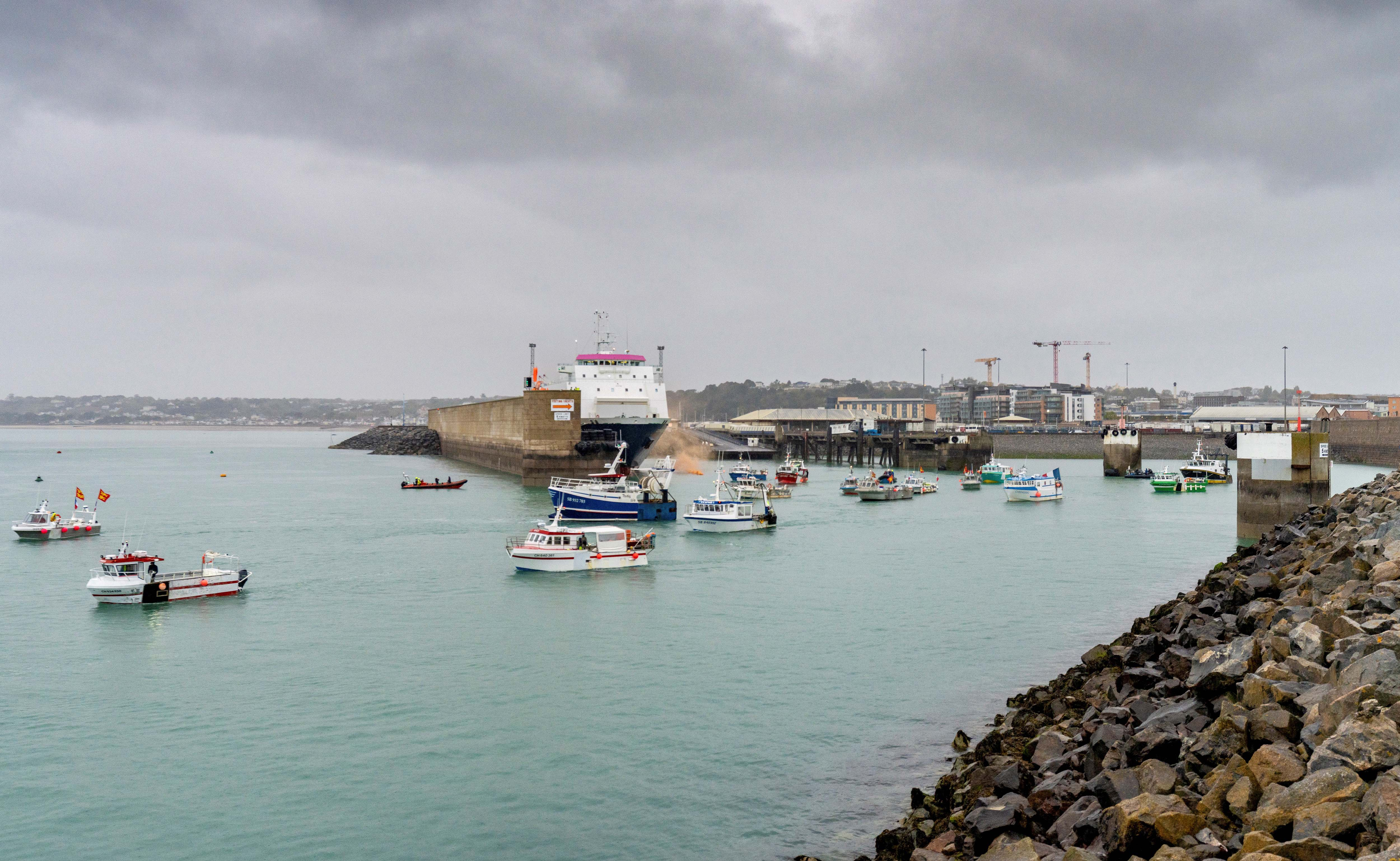 Frota de navios de pesca franceses