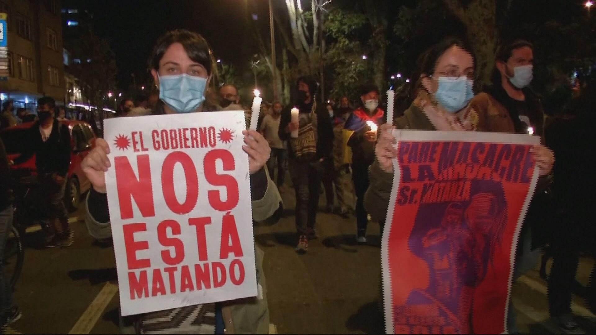 Manifestantes voltam às ruas pelo 9º dia consecutivo de protestos na Colômbia