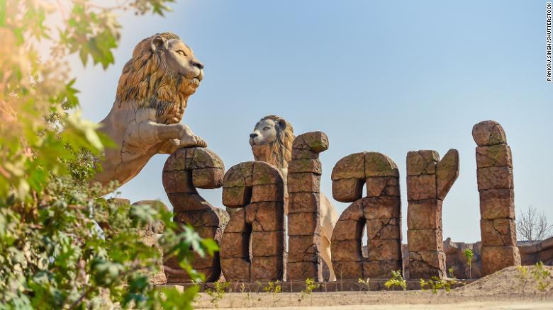 Etawah Safari Park, no estado de Uttar Pradesh,