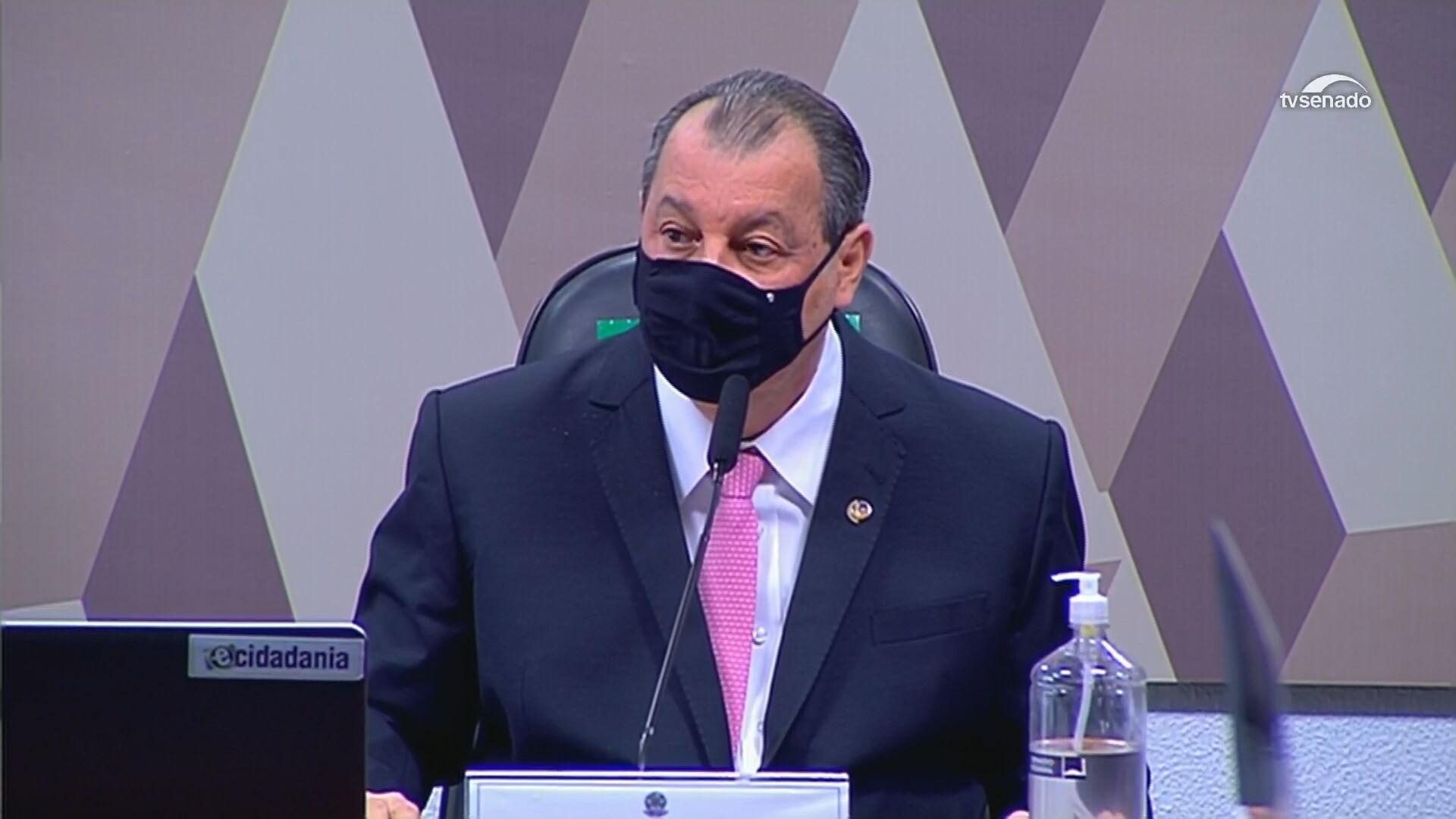 presidente da CPI da Pandemia, Omar Aziz (PSD-AM),